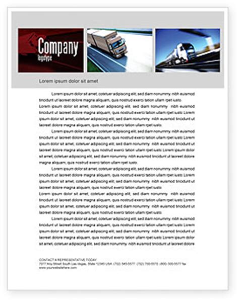 trucking company letterhead templates trailer trucks letterhead template layout for microsoft word adobe illustrator and other