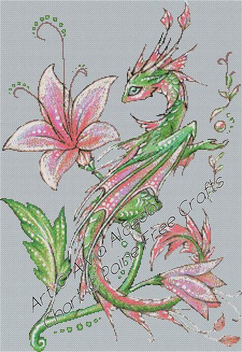 Batik Alvia flower emailed pdf cross stitch chart pattern original 169 alvia alcedo