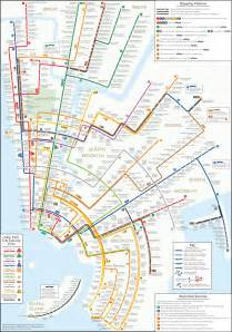 New York Subway Map by Going Round In Circles The New York Subway Map Redesigned
