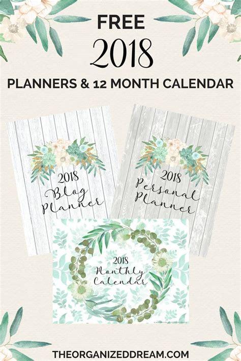 printable calendar journal 2018 planners planner pinterest planners bullet and