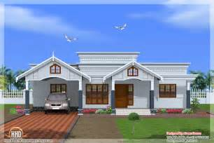 4 room house 4 bedroom single floor kerala house plan
