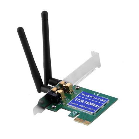 2 antenna pci e 300mbps 300m 802 11b g n wireless wifi card adapter desktop pc ebay