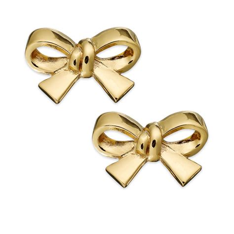 kate spade gold tone bow clip on earrings in gold no