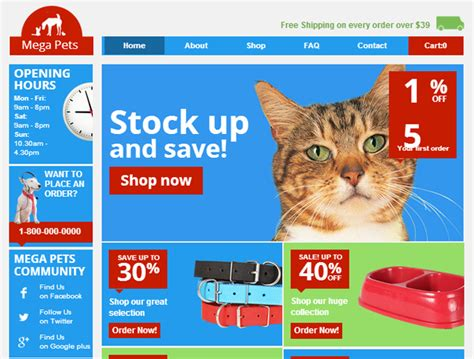 Create Online Pet Store Website For Free Templates Perfect Free Pet Store Website Templates