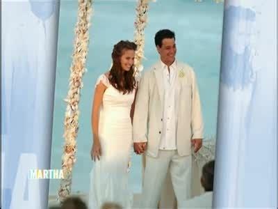 video celebrity wedding  rob  amber mariano martha