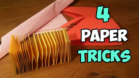 How To Make Paper Tricks - 4 amazing paper tricks you ve never seen before paper