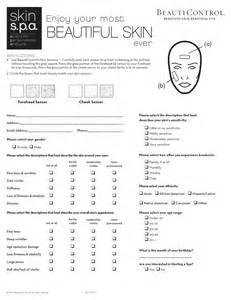 client questionnaire template skin spa client questionnaire