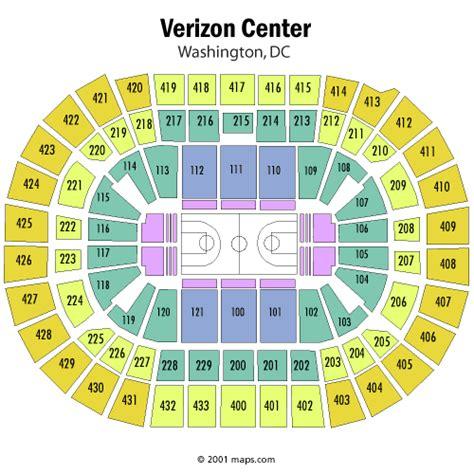 verizon center floor plan washington wizards seating chart washington wizards mci