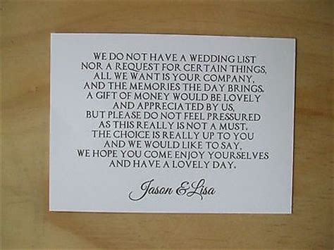 sle wedding invitation wording new years day monetary gifts preferred gift ftempo