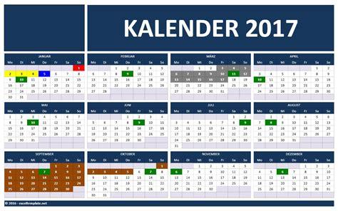 Kalender Excel Vorlage Kalender 2017 Excel Tabelle