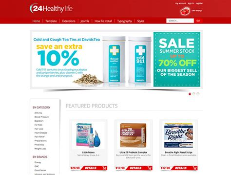 Pharmacy Template by Joomla Pharmacy Template Store