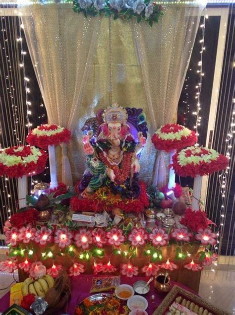 ganpati decoration at home decoration ideas at home for ganpati with theme ganpati