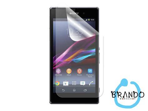 Sony Xperia Z1 Honami L39h C6802 Antiglare Screen Guard Anti Gores brando workshop anti glare screen protector sony xperia z1