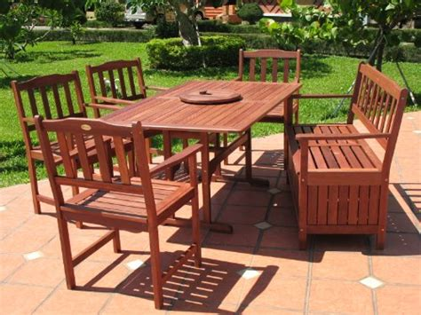 cheapest patio furniture sets cheapest 7pc outdoor wood patio dining furniture set