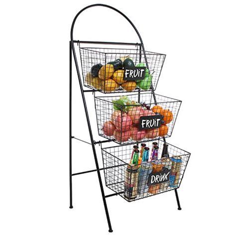three tier floor l 3 tier modern black wire mesh basket floor rack