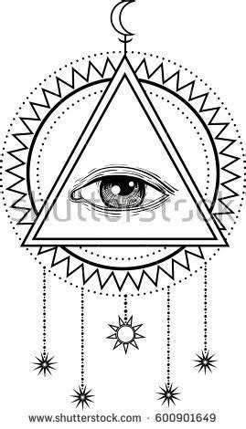 sacred geometry symbol all seeing eye stock vector allseeing eye symbol sacred geometry third stock vector 600901649