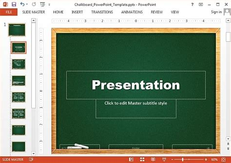 Free Chalkboard Powerpoint Templates Powerpoint Board Template