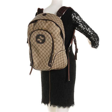 Backpack Guccl Gg Monogram 6317 gucci gg plus monogram interlocking g medium backpack