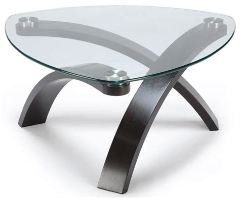 Wood Coffee Table With Glass Top Belfort Select Cocktail Table With Glass Top And Bent Wood Legs Belfort Furniture