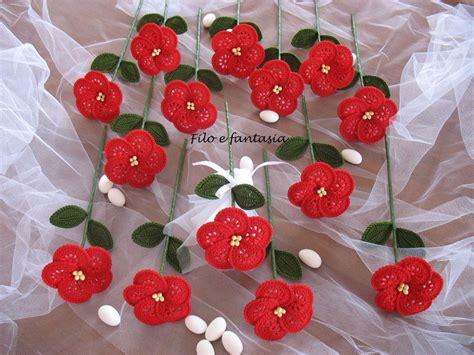fiori per bomboniera bomboniera fiore grande all uncinetto feste bomboniere