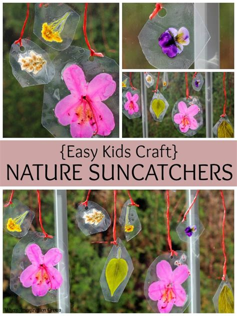 diy spring projects spring crafts for kids diy nature suncatchers where