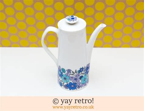 elizabethan portobello coffee pot 60s vintage shop retro china glassware kitchenalia