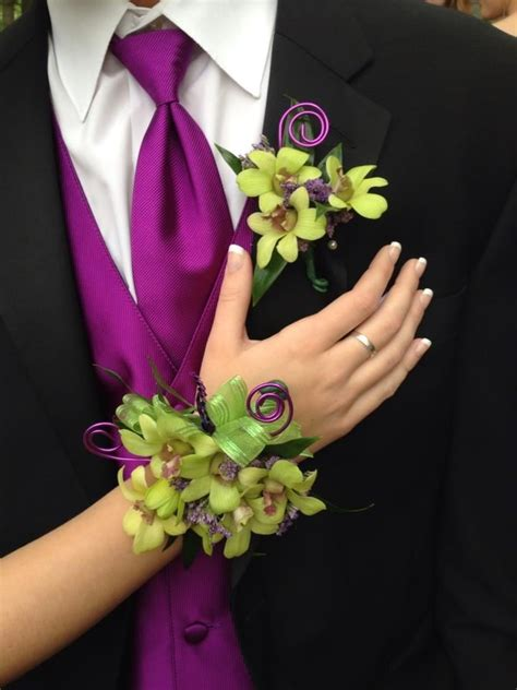 Topiary Florist - green dendrobium themed corsage and boutonniere yelp