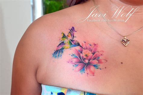 watercolor tattoo facebook watercolor hummingbird tattooed by javi wolf www