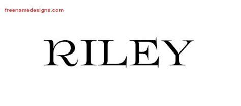 riley name tattoo design flourishes name designs printable free name