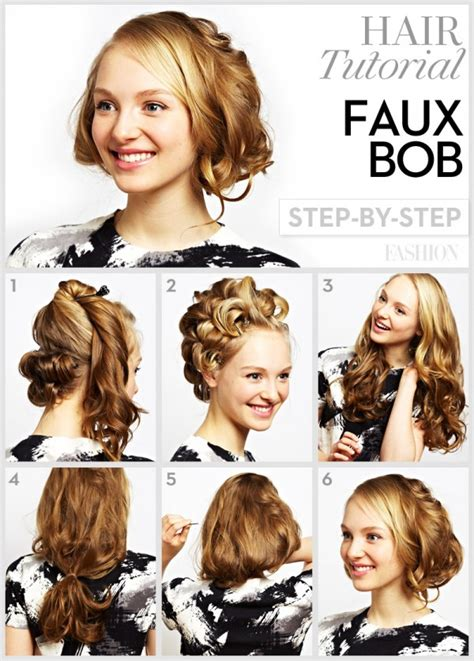 step by step pictorial tutorials of different style puff 10 pretty bob tutorials you must love for the season