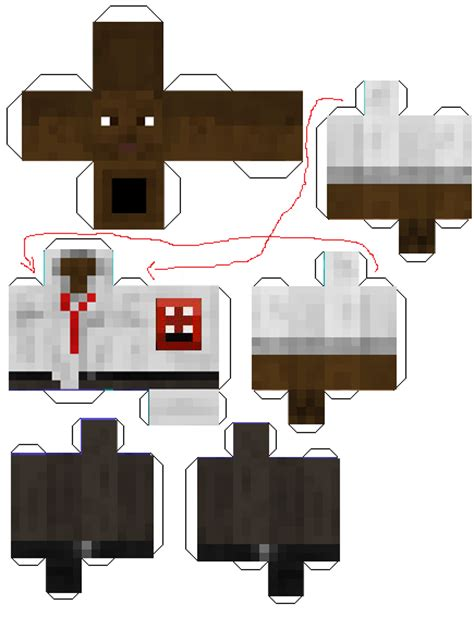 Minecraft Skin Papercraft - paper crafts template minecraft skins