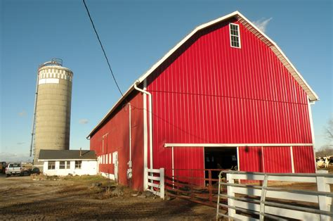Barn On A Dairy Farm Story Barn Post And Shenk Dairy Barn Between And