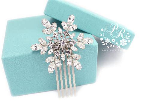 snowflake hair comb bridal hair comb winter hair comb bridal wedding hair comb rhinestone snowflake hair comb bridal hair