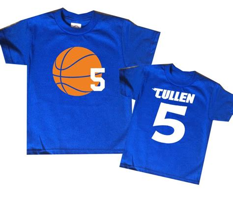 personalized basketball jersey for toddlers basketball birthday shirt personalized two sided