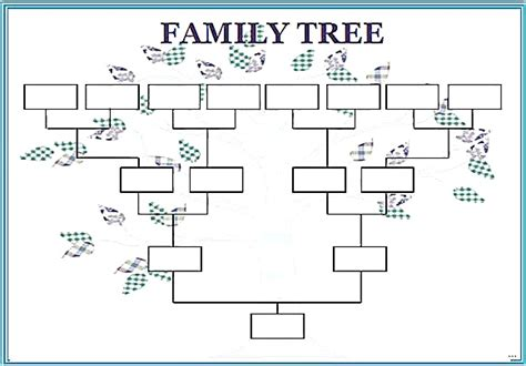 simple family tree template blank family tree template worksheet printable splendid