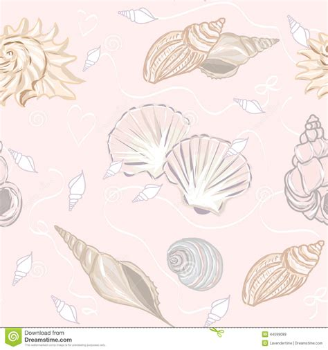 seamless pattern ai file shelly seamless vector pattern stock image image 44599089