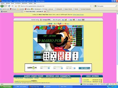 mario video poker cool  flash poker game  kids