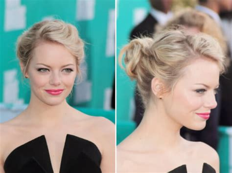 emma stone updo emma stone updo steal emma s romantic updo hairstyle