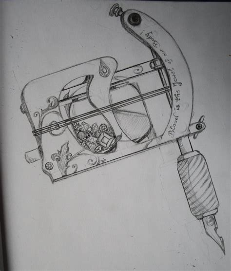 tattoo machine drawing machine by cheekybird on deviantart