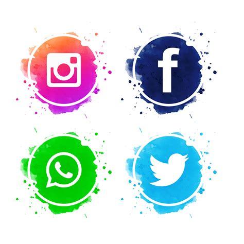 hermosos iconos de redes sociales vector descargar