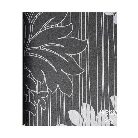 Wallpaper Dinding Hitam Motif jual java wallpaper nae1287 king motif daun dekorasi dinding hitam harga kualitas
