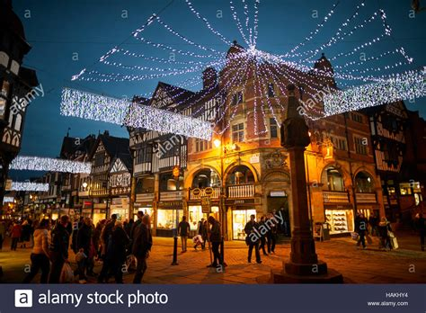 chester town centre christmas lights cross town centre
