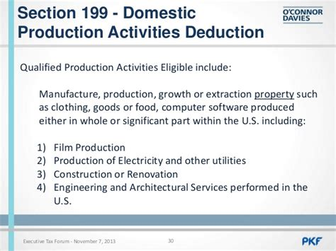 what is section 199 deduction corporate tax update