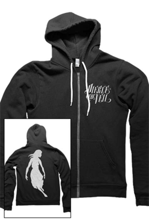 Hoodie Zipper Veil Of Logo Fightmerch logo zip up hoodie black outerwear the veil outerwear store on district lines