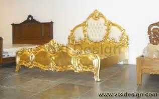 italian tufted gold leaf furniture bedroom luxury