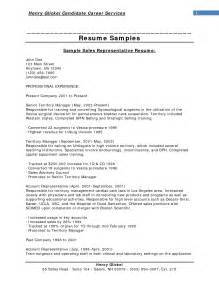 Resume Sles With Objectives Sales Resume Objective Berathen