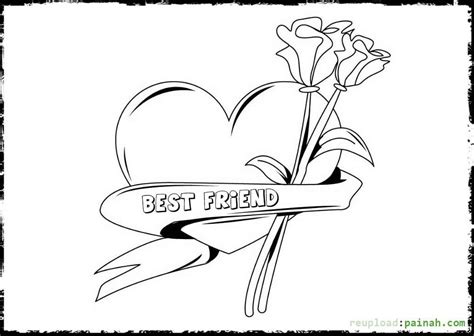 Cool Love Coloring Pages For Teenagers Coloring Home Best Friend Coloring Pages For Free