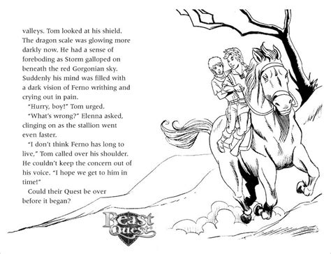 beast quest coloring pages