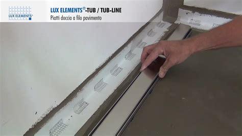 doccia filo pavimento prezzi montaggio elements piatti doccia a filo pavimento tub