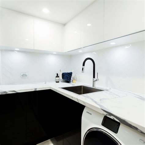 laundry design the block the block triple threat laundry powder room wine cellar